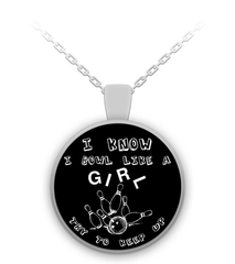 Bowl Like A Girl Round Necklace