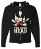 Too Much Head Zip Hoodie