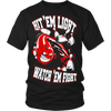 Hit 'em light, watch 'em fight - Design on front