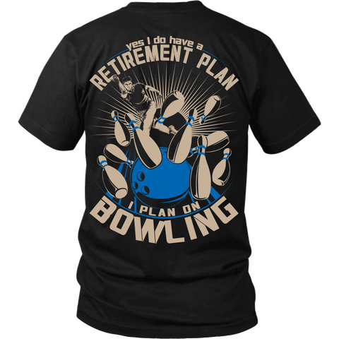Mens Retirement Plan - Design On Back