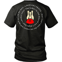 A Bowler's Prayer Shirt - Design On Back