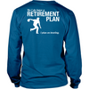 Bowling Retirement Plan - Men's design on the back