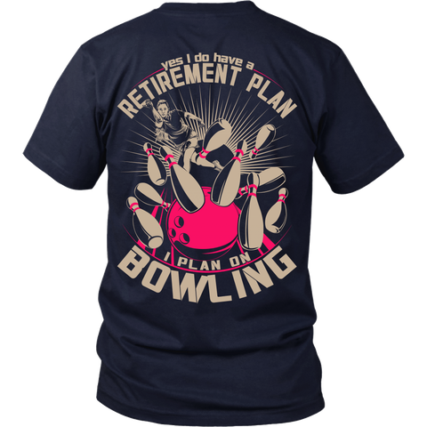 Womens Retirement Plan - Design On Back