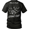 When in doubt strike out (design on back)