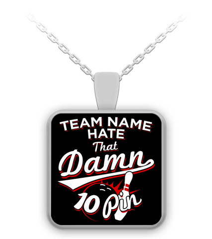 Custom Team 10 Pin Necklace