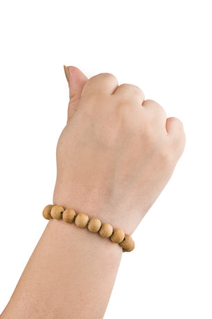CMEI Stretchable Natural Sandalwood Bracelet Healing 8mm Beads Women Men Girls Birthday Gifts (Unisex)