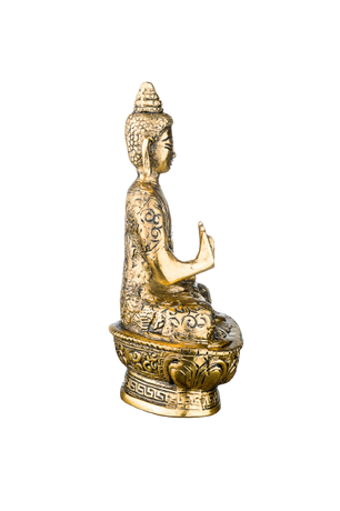"CMEI Buddha Statues for Home. 7"" Buddha Statue (Blessing or Protection Buddha). Collectibles and Figurines, Meditation Décor, Spiritual Living Room Décor, Yoga Zen Décor, Hindu and East Asian Décor"