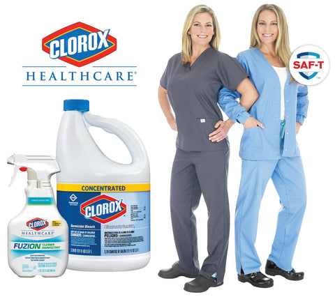 SAF-T is the first-ever scrub brand to earn compatibility partnership with Clorox Healthcare in the apparel category.