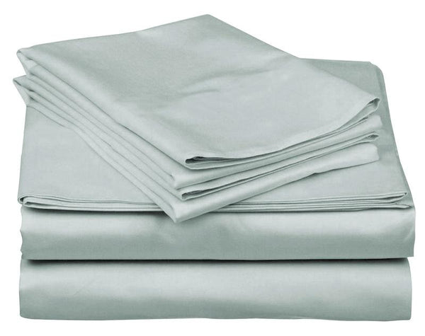 METALLIC BLUE - 800 THREAD COUNT BEDDING SET.