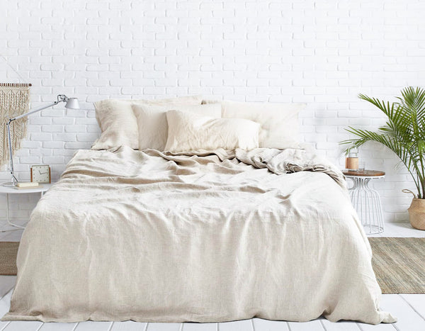 OATMEAL - NATURAL LINEN BEDDING SET