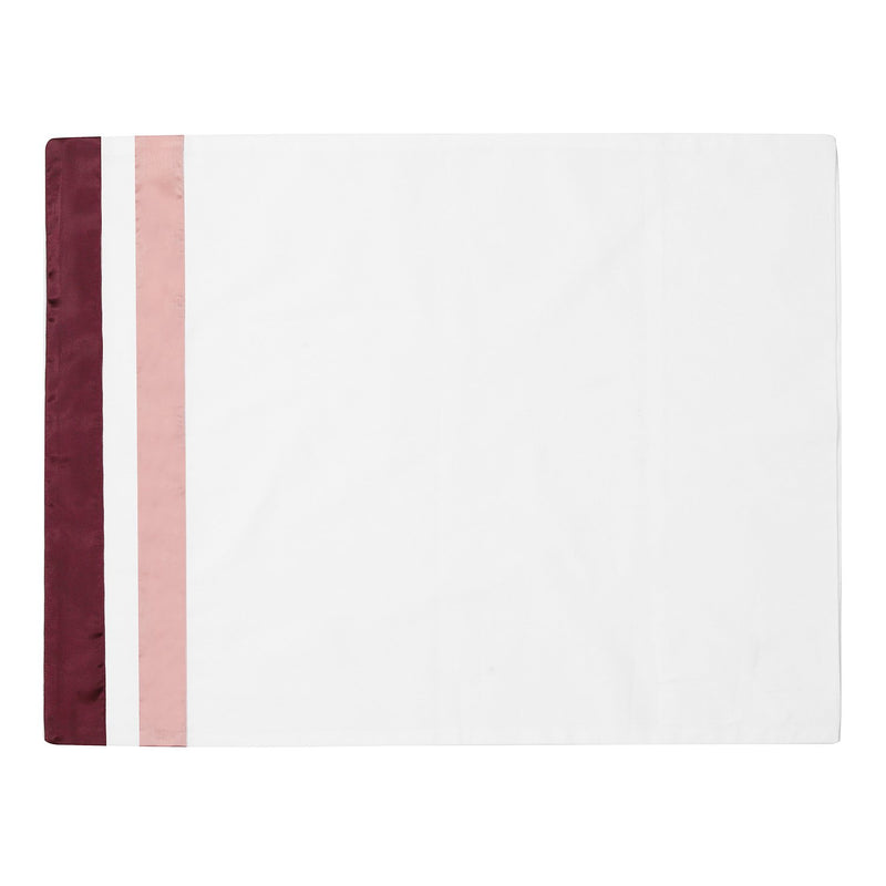 SATIN CABERNET - PURE COTTON BED SHEETS SET.
