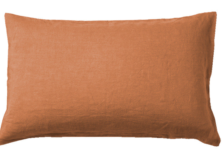 TERRACOTTA- 100% EUROPEAN LINEN BEDDING.