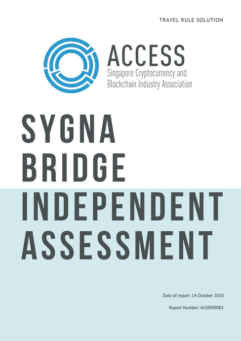 [Repost] ACCESS Singapore Publishes Travel Rule Assessment Report on Sygna Bridge
