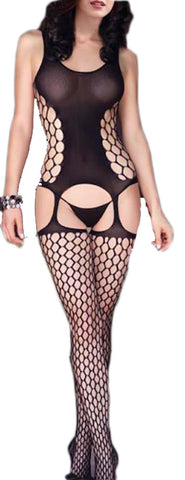 made2envy Honeycomb Design Sexy Bodystocking