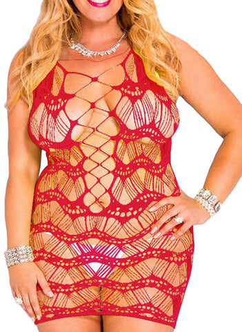 made2envy Crocheted Lace Hollow Out Chemise
