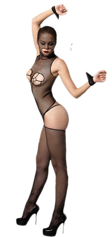 made2envy Sexy Flitry Masked Fishnet Full Body Bodystocking