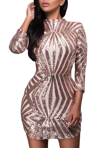 made2envy Sequin Detail Open Back Party Mini Dress