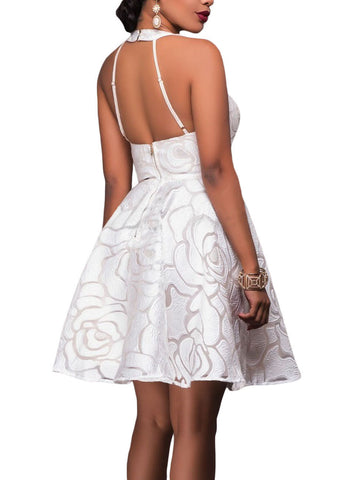 made2envy Jacquard Skater Party Dress