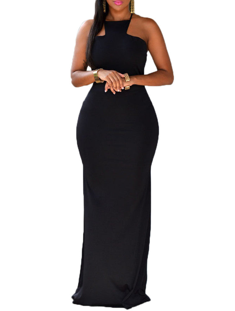made2envy Square Neck Open Back Maxi Dress