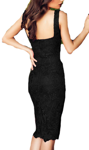 made2envy Lace Push Up Balconette Neckline Bodycon Dress