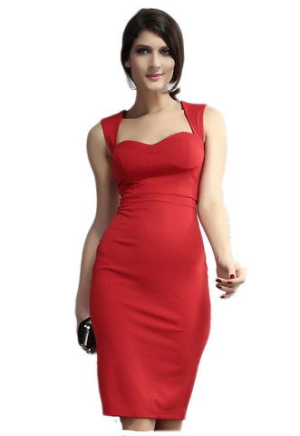 made2envy Monaco Open Back Square Neck Sleeveless Midi Dress