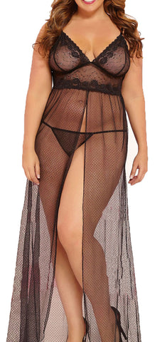 made2envy Exquisite Sheer Mesh Gown