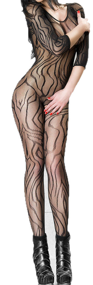 made2envy Pattern Lace Bodystocking