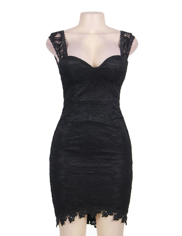 made2envy Princess Lace Balconette Bodycon Mini Dress