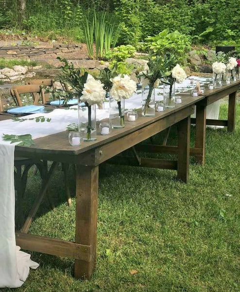 Rustic Wooden Head Table Decorated