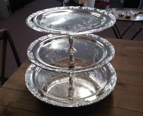 Server - 3 tier Silver Stand