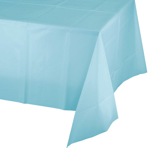 Plastic Table Cover - Pastel Blue
