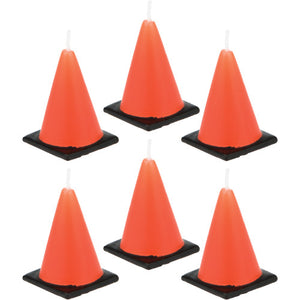 Candles - Traffic Cone 6ct