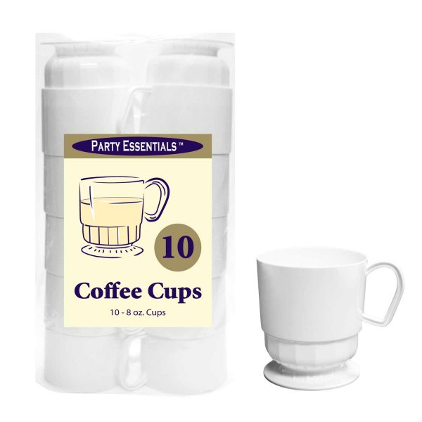 White Coffee Cups 10ct