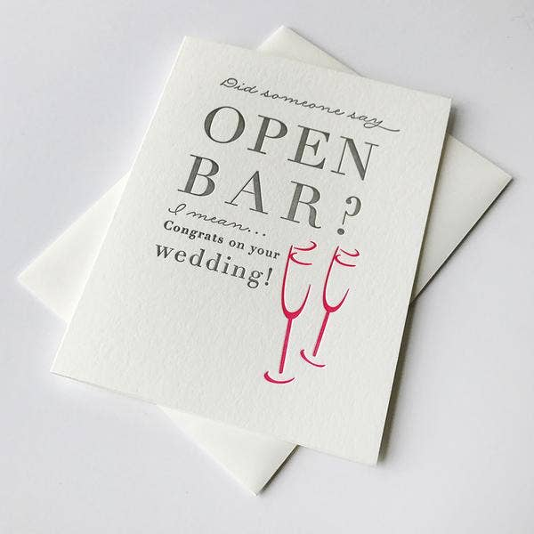 Greeting Card - Open Bar