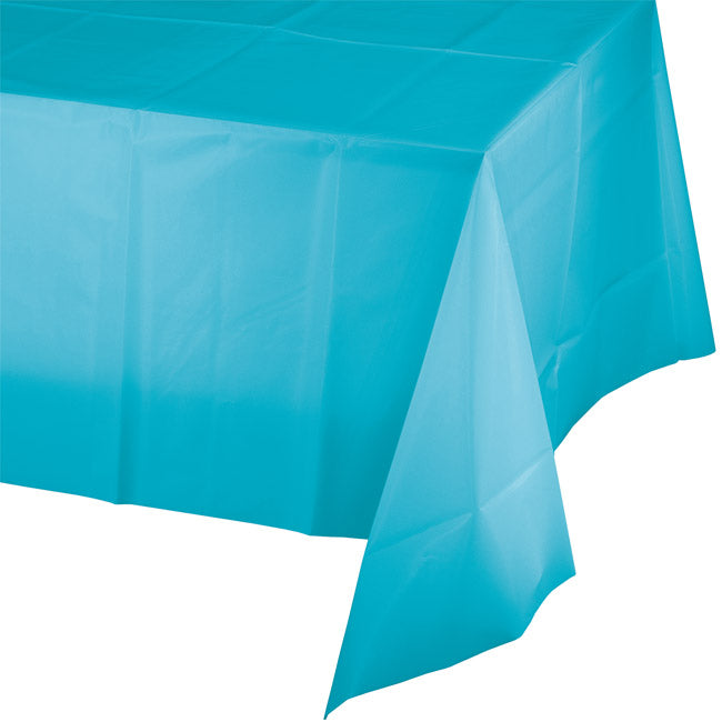 Plastic Table Cover - Bermuda Blue