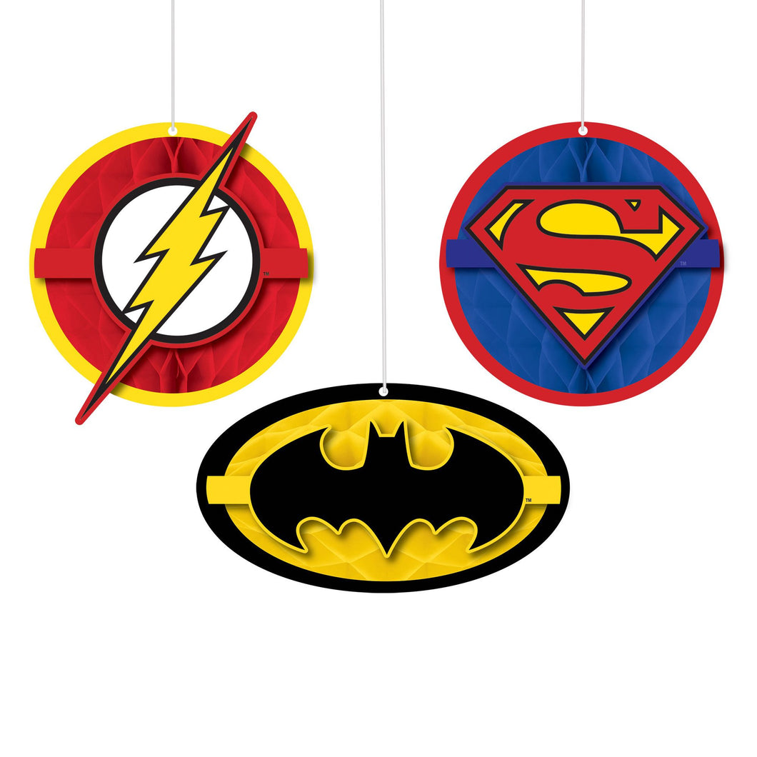 Hanging Decorations - Justice League 3ct