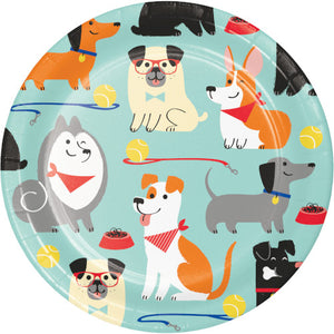 Dessert Plates - Dog Party 8ct