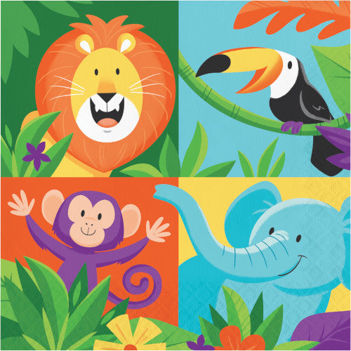 Lunch Napkins - Jungle Safari 16ct