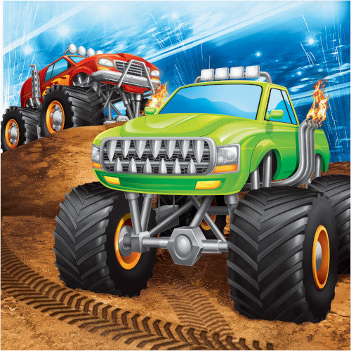 Lunch Napkins - Monster Truck Rally 16ct