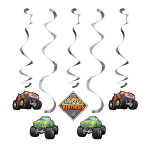 Hanging Decor - Monster Truck Rally 5ct