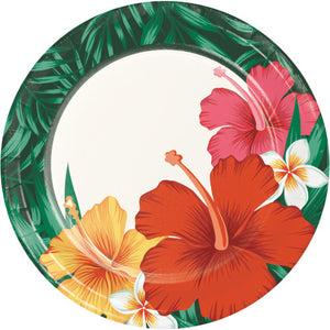 Dessert Plates - Tropical Flowers 8ct