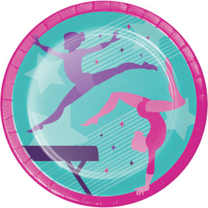 Lunch Plates - Gymnastics Party 8ct