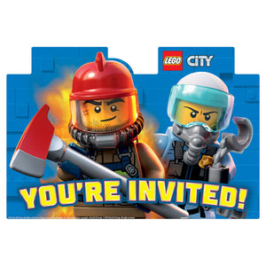 Invitations - Lego City 8ct