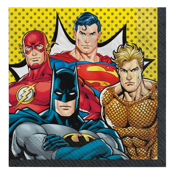 Lunch Napkins - Justice League 16ct