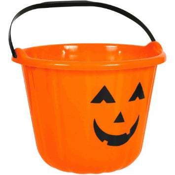 Plastic Pumpkin Bucket