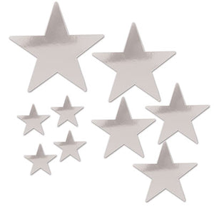 Silver Star Cutouts 9ct