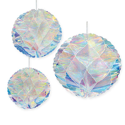 Iridescent Honeycomb Balls 3ct