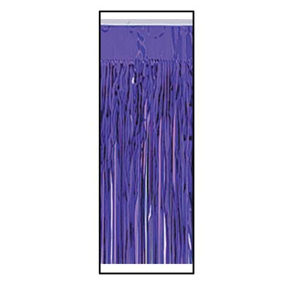 Metallic Table Skirting - Purple