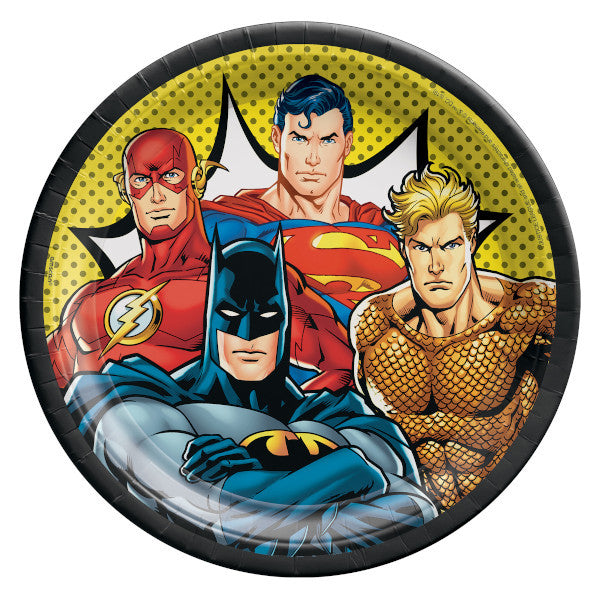 Lunch Plates - Justice League 16ct