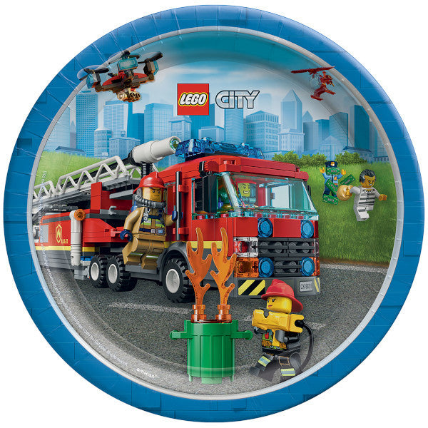 Lunch Plates - Lego City 8ct